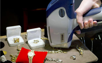 Gold Jewellery testing, handheld gold testing, gold jewellery purity tester